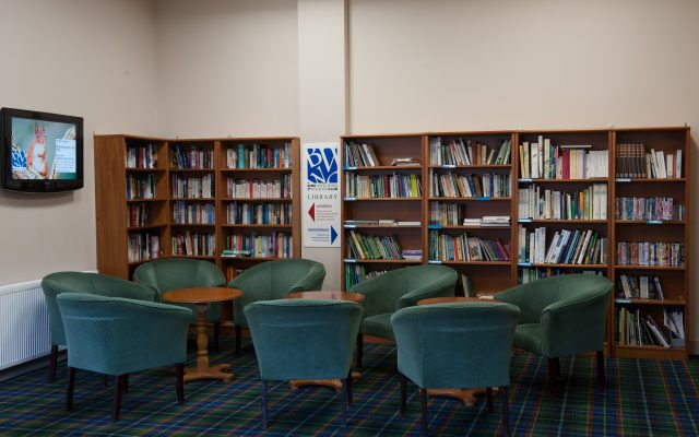 Sitting area in the library